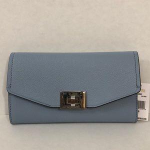 Michael Kors pale blue trifold wallet